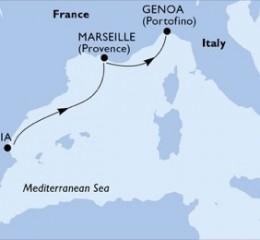 2 Noches por España, Francia, Italia a bordo del MSC Divina